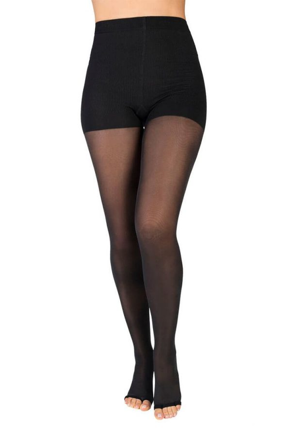 Medivaric-High-Compression-Pantyhose-Stockings-1231-Black-Front-Web