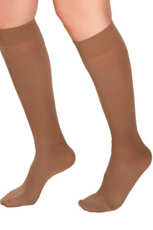 Medivaric-Low-Compression-Knee-High-Stocking-1113-New-Beige-Side-Web