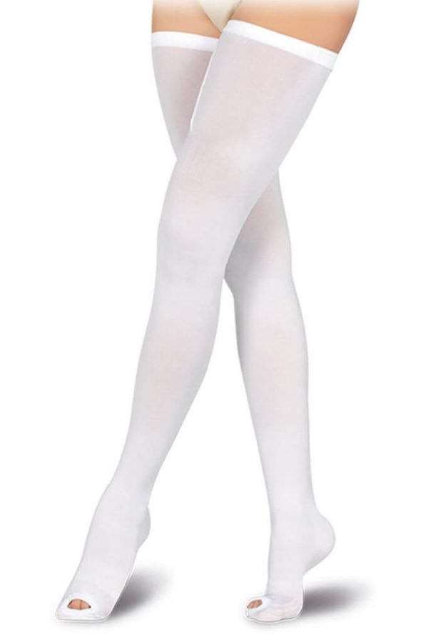 Medivaric-Thigh-High-Anti-Embolism-Stocking-4462-White-Front-Web