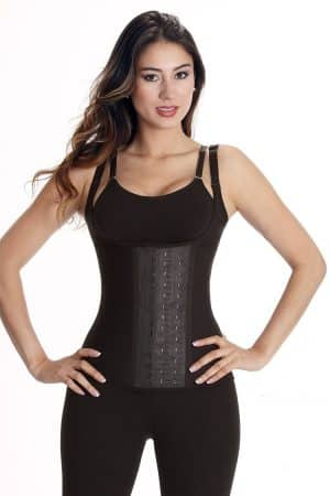 Wonderfit-Adjustable-Strap-Latex-Vest-0274-Black-Front-Web