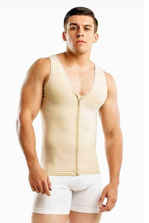 Wonderfit-Powernet-Men-Vest-With-Zipper-176-Beige-Front-Web