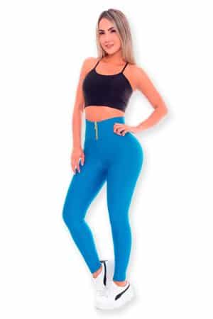 Workout-Leggings-by-Wonderfit-723-Turquoise-Front
