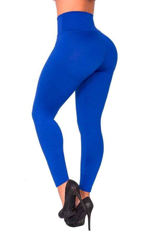 Waist-reducing-leggings-Blue-Back
