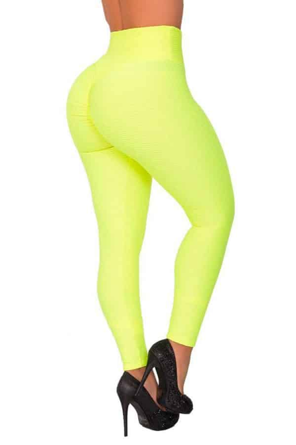 Waist-reducing-leggings-Green-Back