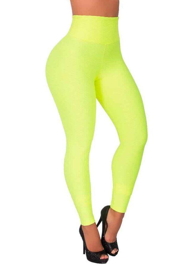 Waist-reducing-leggings-Green-Front