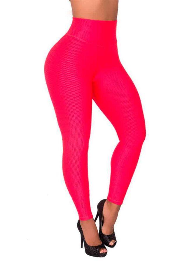 Waist-reducing-leggings-Red-Front