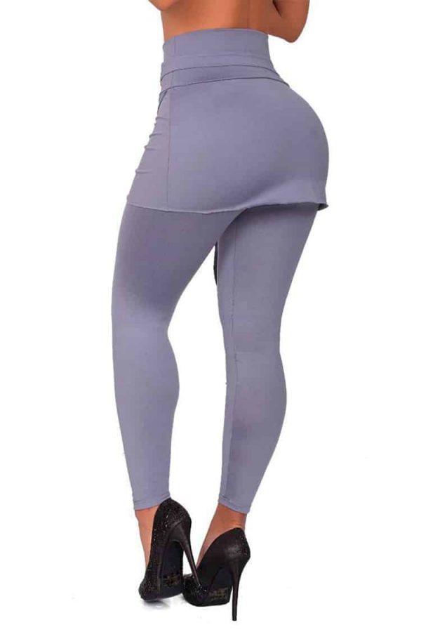 Waist-reducing-leggings-skirt-Grey-Back