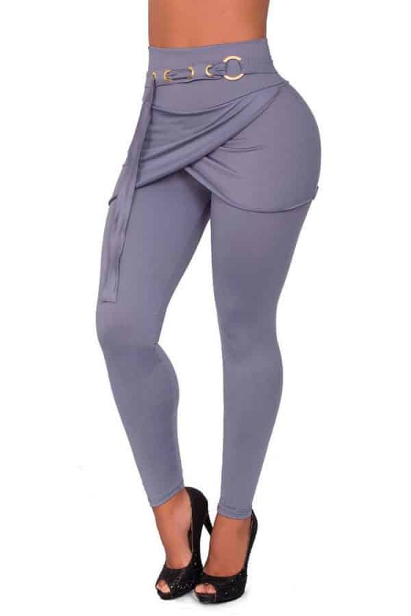 Waist-reducing-leggings-skirt-Grey-Front