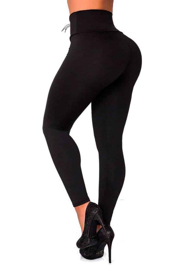 Waist-reducing-leggings-with-eyelets-Black-Back