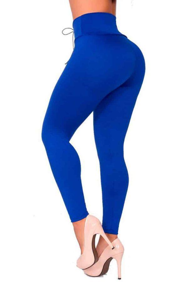 Waist-reducing-leggings-with-eyelets-Blue-Back